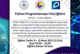 Python Programlamaya Giriş Eğitimi (Online – Uzaktan Eğitim)