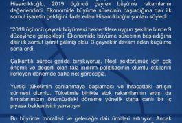 Tobb Başkanı Sn.Rifat Hisarcıklıoğlu'ndan Ekonomi Değerlendirmesi
