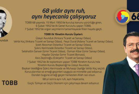 TOBB 68 YAŞINDA