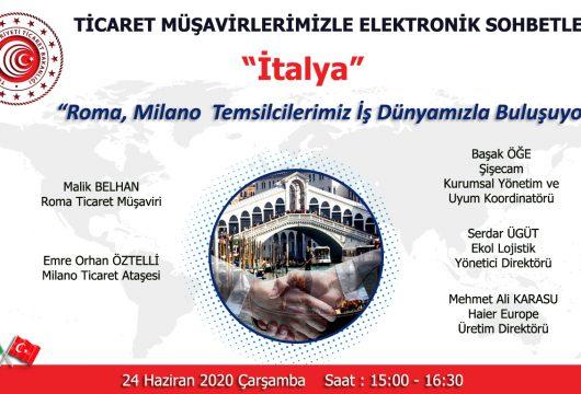 """""""Ticaret Müşavirlikleri İle Elektronik Sohbetler-İtalya"""""""