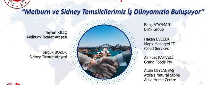 """Ticaret Müşavirlikleri ile Elektronik Sohbetler """"Avustralya"""""""