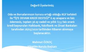 İŞ'E DEVAM KREDİ DESTEĞİ